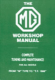 Cover image for MG Pre-War Shop Manual
