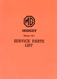 Cover image for MG TD Series Parts Manual