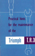 Cover image for TR3 Owners Manual/Instruction Book