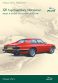 Cover image for JAGUAR XJS SUPPLEMENTARY INFO, MODEL & SERVICE INFO 1975-96 CD ROM