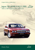 Cover image for JAGUAR XJ6 (X300) & XJ12 (300) SUPPLEMENTARY INFORMATION 1995-97 CD ROM