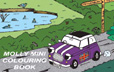 Cover image for Molly Mini Large Picture Colouring Book