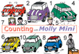 Cover image for Counting with Molly, the Classic British Mini
